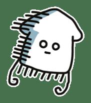 Cute squid's sticker #7131618