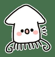 Cute squid's sticker #7131621