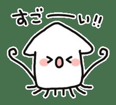 Cute squid's sticker #7131622