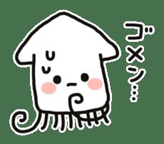 Cute squid's sticker #7131623