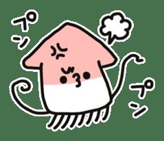 Cute squid's sticker #7131625