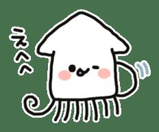 Cute squid's sticker #7131628