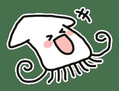 Cute squid's sticker #7131629