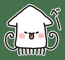 Cute squid's sticker #7131630