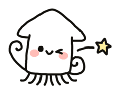 Cute squid's sticker #7131633