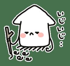 Cute squid's sticker #7131636