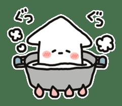 Cute squid's sticker #7131638