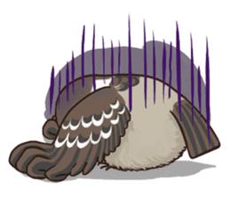 fat sparrow sticker #7136506