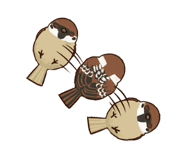 fat sparrow sticker #7136507
