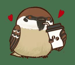 fat sparrow sticker #7136510