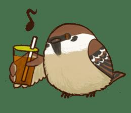 fat sparrow sticker #7136511