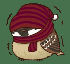 fat sparrow sticker #7136513