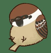fat sparrow sticker #7136517