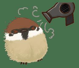 fat sparrow sticker #7136521