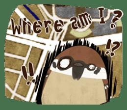 fat sparrow sticker #7136524