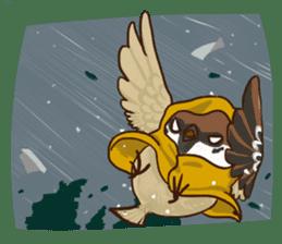 fat sparrow sticker #7136530