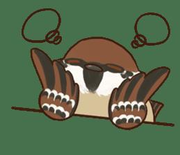 fat sparrow sticker #7136532