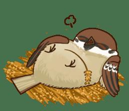 fat sparrow sticker #7136542