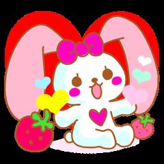Cute Pinky strawberry rabbit