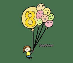 happy birthday to you~ birthday song sticker #7145104