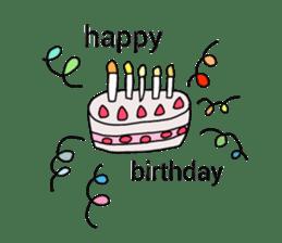 happy birthday to you~ birthday song sticker #7145110