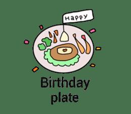 happy birthday to you~ birthday song sticker #7145117