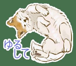 6 kinds of Japanese dog sticker sticker #7151563