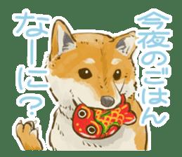 6 kinds of Japanese dog sticker sticker #7151582