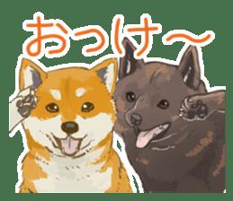 6 kinds of Japanese dog sticker sticker #7151596