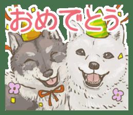 6 kinds of Japanese dog sticker sticker #7151598