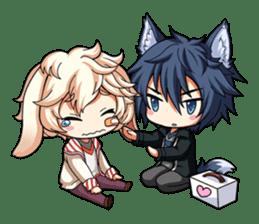 Rabbit-man & Wolf-man Eng.Ver. sticker #7155008
