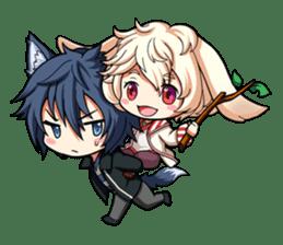 Rabbit-man & Wolf-man Eng.Ver. sticker #7155012