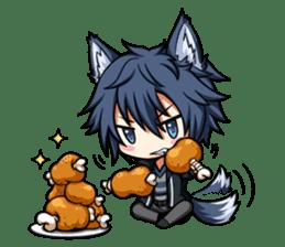 Rabbit-man & Wolf-man Eng.Ver. sticker #7155013