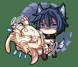 Rabbit-man & Wolf-man Eng.Ver. sticker #7155020