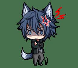 Rabbit-man & Wolf-man Eng.Ver. sticker #7155037