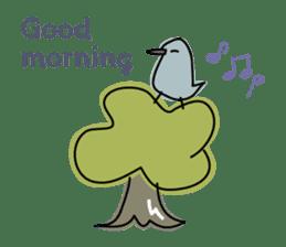 Birds in the forest English ver. sticker #7155888