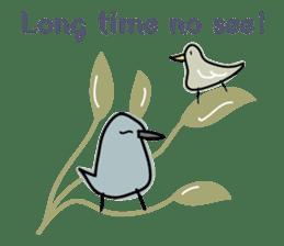 Birds in the forest English ver. sticker #7155889