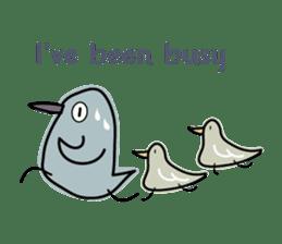 Birds in the forest English ver. sticker #7155895