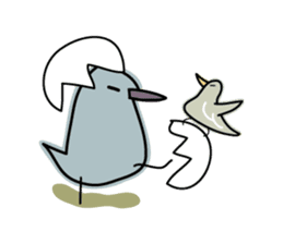 Birds in the forest English ver. sticker #7155909