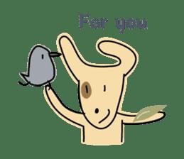 Birds in the forest English ver. sticker #7155913