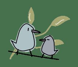 Birds in the forest English ver. sticker #7155922