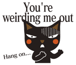 Black Cat Meowmon <English> sticker #7157465