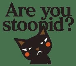 Black Cat Meowmon <English> sticker #7157466
