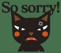 Black Cat Meowmon <English> sticker #7157468