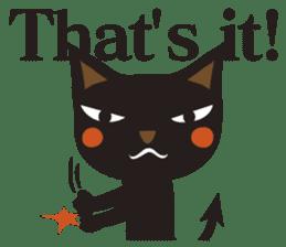 Black Cat Meowmon <English> sticker #7157471