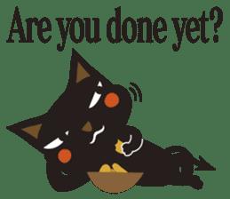 Black Cat Meowmon <English> sticker #7157473
