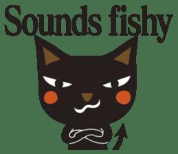 Black Cat Meowmon <English> sticker #7157474