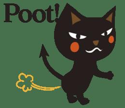 Black Cat Meowmon <English> sticker #7157476