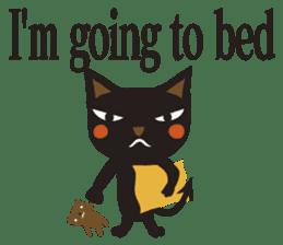 Black Cat Meowmon <English> sticker #7157477