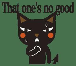 Black Cat Meowmon <English> sticker #7157483